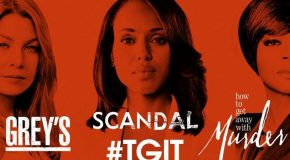 3 renouvellements sur ABC : Grey's, HTGAWM et Scandal