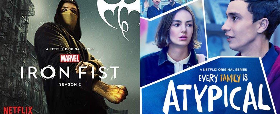 Vendredi 7/9, auj : Iron Fist, Atypical, Cable Girls sur Netflix