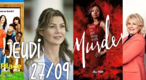 Jeudi 27/09, ce soir : Grey's, Good Place, Murphy Brown, HTGAWM, SWAT, Mom