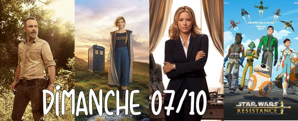 Dimanche 07/10, ce soir : Walking Dead, Doctor Who, Madam Secretary, Star Wars Resistance