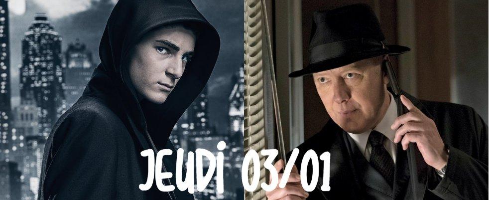 Jeudi 03/01, ce soir : Gotham et The Blacklist