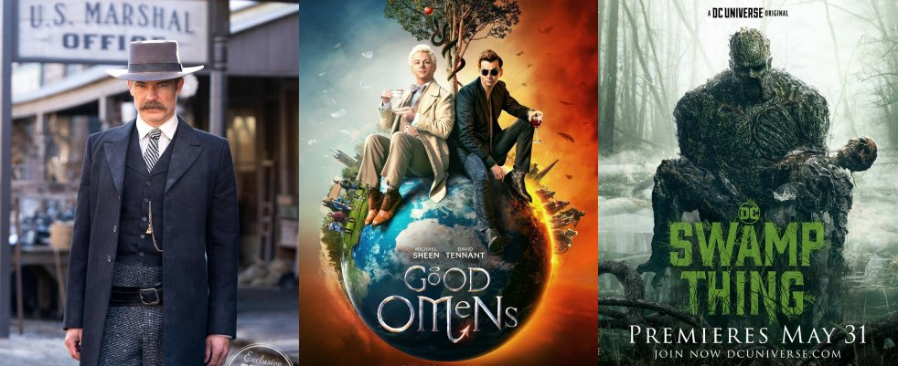 Vendredi 31/5, ce soir : Deadwood, Good Omens, Swamp Thing