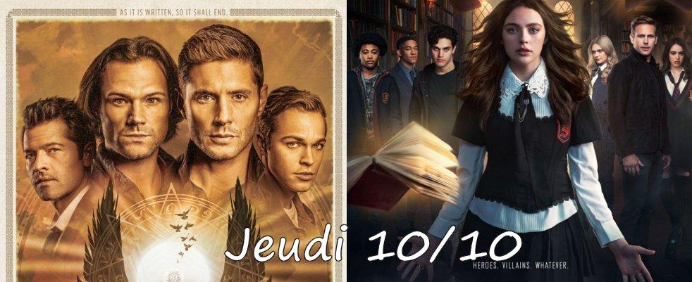 Jeudi 10/10, ce soir : Supernatural et Legacies