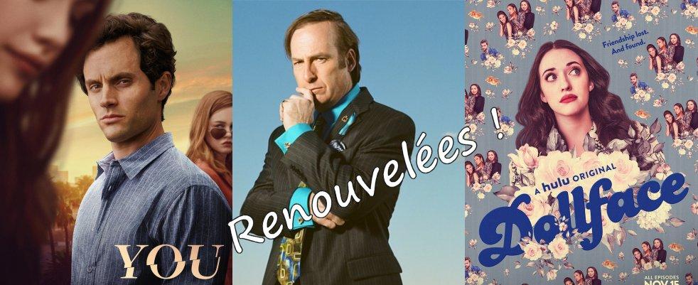 Renouvellements pour Dollface, Better Call Saul, YOU et 6 autres