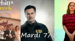 Mardi 7/1, ce soir : Schitt's Creek, FBI : Most Wanted et Zoey's Extraordinary Playlist