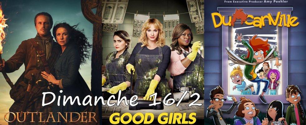 Dimanche 16/2, ce soir : Outlander, Duncanville, Good Girls