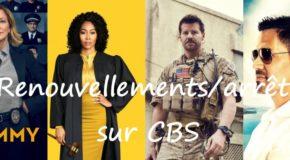 CBS renouvelle 15 séries et en arrête 4