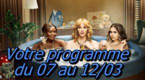 Votre programme du 07 au 12/03